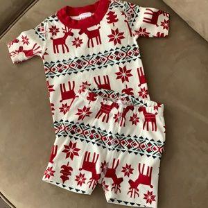 Hanna Andersson Dear Deer Shorts Pajamas Size 3